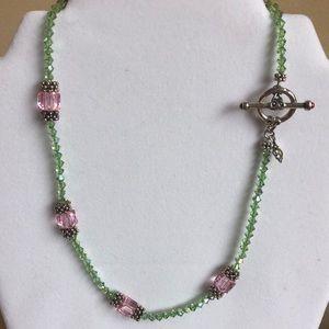 ElyseRyan Sterling Silver/Crystal Necklace